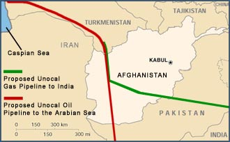 These pipelines will carry $3-5 trillion in oil and gas from the Caspian Sea basin via Afghanistan, to be sold at huge profits to Asian economies.