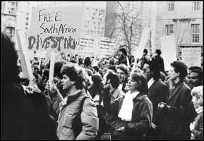 The campaign against apartheid South Africa was popular, international, and stubbornly rejected by governments in most western countries ? does this ring any bells?