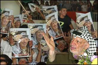 Nothing is more pleasing to Sharon than watching disputes over internal policy give the false impression that Arafat is losing his legitimacy.