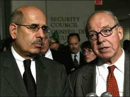 Hans Blix and Muhammad el-Baradi