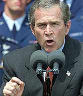 After the attacks, George Bush promised that he would 'make no distinction between the terrorists who conducted these attacks and those who harbour them.' Was this already another lie?