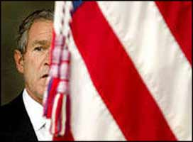 Praising the fascist policies of Ariel Sharon in one breath, USA President Bush claims in the next that he wants to bring ?freedom and democracy? to the Middle East.