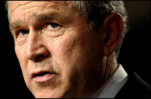 Don't ask George Bush to think about human consequences. He flunked out of that class at college.