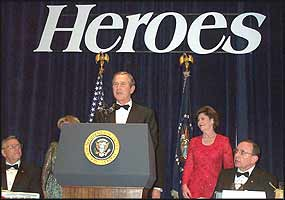 George Bush assigns the 'runts' amongst his heroes a life of poverty after they've done his dirty work.
