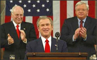 George Bush would do anything for self-glorification. Dick Cheney would serve anyone for more power and wealth.