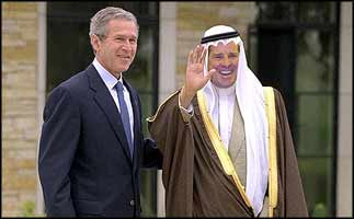 George Bush intends to bring a democratic government to Iraq sooner or later. Just as soon as his Viceroy has chosen it.