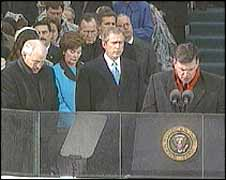 Franklin Graham set the scene for the Christian right Bush crusade when he gave a sermon at the USA President's inauguration ceremony.