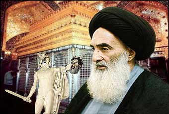 He thought he was aiding Sharon, and securing control of oil, but George Bush has handed Ayatollah al-Sistani a gift.