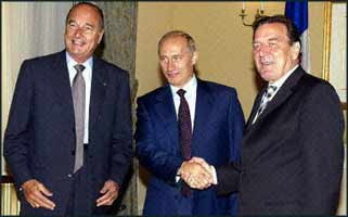 The surprise over the ?flowering? of principles in Chirac, Putin, and Schroeder was not that they died this Autumn, but that they lasted till the end of Summer.