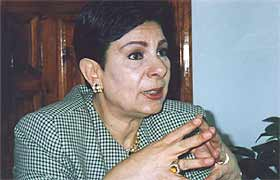 Fouder of the Palestinian Initiative for the Promotion of Global Dialogue and Democracy, Hanan Ashrawi is one of the most steadfast of Palestinian workers for peace in the Middle East.