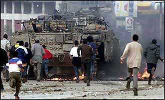 Want to end terrorism? Then take the tanks off the streets, and give oppressed people something more than martyrdom to hope for.