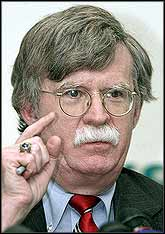 Neo-conservatives such as John Bolton, USA Under Secretary for Arms Control, continue to push the line for expansion into Iran.