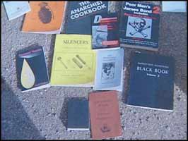 As well as the usual racist ideology, the seized literature gave instructions for constructing bombs, booby-traps, and other lethal devices.