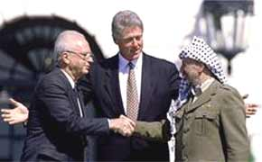The 'treachery' of the Oslo Accords earned Yitzhak Rabin two bullets in the chest. Sharon is yet to fully punish the Palestinians.