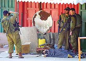 Some moral questions are easy to answer. Israeli soldiers pose for a photo over the dead body of a Palestinian.