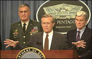 Donald Rumsfeld has made it his own personal mission to institutionalise the use of lies to achieve strategic government goals.