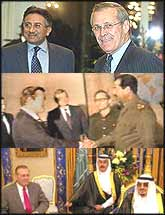 USA Defence Secretary, Donald Rumsfeld?s, choice of business partners hasn?t changed much since he shook hands with Saddam Hussein twenty years ago.