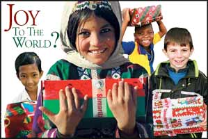 Peace on Earth and good will to all men - so long as you don't live in Iraq, Palestine, Syria, or any one of those heathen countries where the Christian right have yet to dominate.