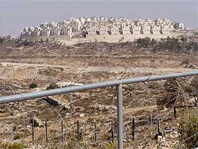 The illegal armed settlement of Har Homa, northwest of Bethlehem, stands like a medieval crusader?s walled city in occupied Palestine.