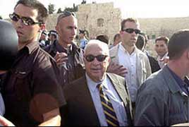 In September 2000, Ariel Sharon catalysed the latest Intifada by controversially visiting al-Haram al-Sharif, 'the Noble Sanctuary' that encloses al-Aqsa mosque.