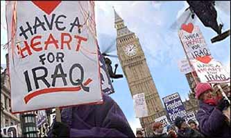 This could have been the picture of protests this week to Bush's state visit to London, had USA security been given their way.