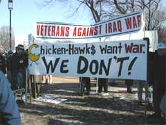 No More Lies. Veterans of previous wars of USA aggression attend an anti-war rally in Washington, DC.