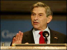 Closely associated with the Zionist Organization of America, Paul Wolfowitz doesn?t need humanitarian motives for invading Iraq.