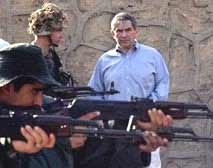 USA Deputy Defence Secretary, Paul Wolfowitz stands behind the protection of soldiers after the attack.