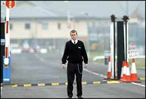 Nik Sommerlad is pictured here at the gates of the detention centre.